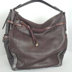 Coach embossed leather shoulder bag